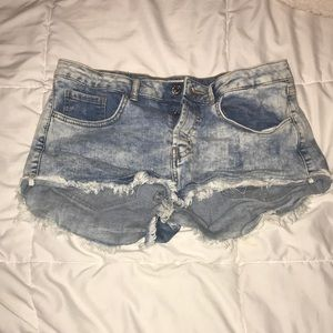 Jean shorts. Don't fit anymore. Barely wore